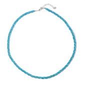 Blue Apatite Silver Necklace