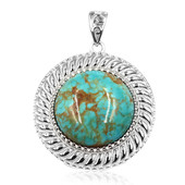 Tyrone Turquoise Silver Pendant