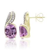 9K Patroke Kunzite Gold Earrings