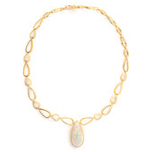 14K AAA Welo Opal Gold Necklace (de Melo)