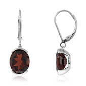 AAA Mozambique Garnet Platinium Earrings
