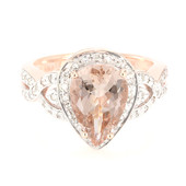 18K AAA Peach Morganite Gold Ring