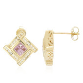 14K Ceylon Pink Sapphire Gold Earrings (Molloy)