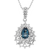 London Blue Topaz Silver Necklace (Dallas Prince Designs)