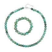 African turquoise Silver Set