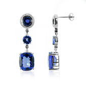 14K AAA Tanzanite Gold Earrings (de Melo)