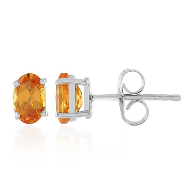 Mandarin Garnet Silver Earrings