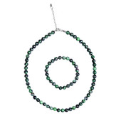 Ruby in Zoisite Silver Set