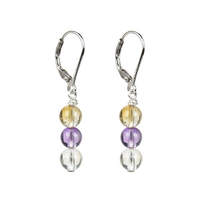 Ametrine Silver Earrings