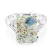 K2 Mountain Azurite Silver Ring