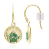 9K Emerald Gold Earrings