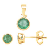 14K Zambian Emerald Gold Set
