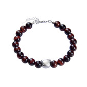 Red Tiger´s Eye Silver Bracelet