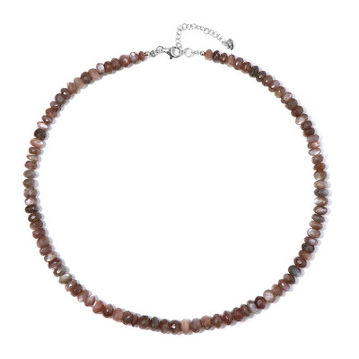 Kangeyam Moonstone Silver Necklace