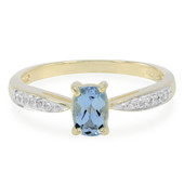 9K Santa Maria Aquamarine Gold Ring