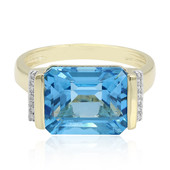 9K Swiss Blue Topaz Gold Ring