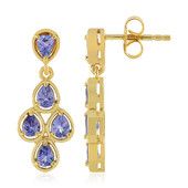 Tanzanite Silver Earrings