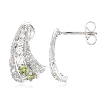 Namibian Demantoid Silver Earrings