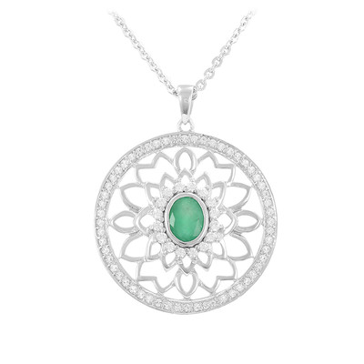 Socoto Emerald Silver Necklace
