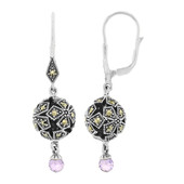 Amethyst Silver Earrings (M de Luca)