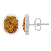 Amber Silver Earrings