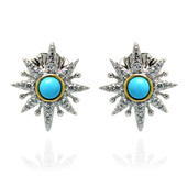Sleeping Beauty Turquoise Silver Earrings (Dallas Prince Designs)