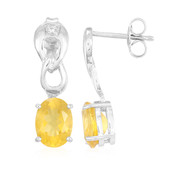Yellow Beryl Silver Earrings