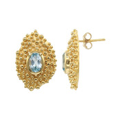 Sky Blue Topaz Silver Earrings (MONOSONO COLLECTION)