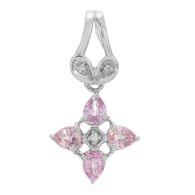 Pink Sapphire Silver Pendant