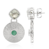 Green Amethyst Silver Earrings (Memories by Vincent)