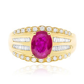 14K AAA Mozambique Ruby Gold Ring (CIRARI)