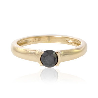 9K Black Diamond Gold Ring