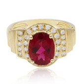 14K AAA Brazilian Rubelite Gold Ring
