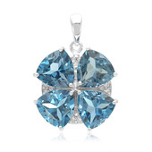 London Blue Topaz Silver Pendant
