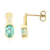 9K AAA Zambian Emerald Gold Earrings