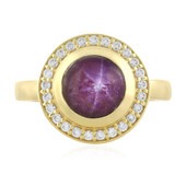 Channapatna Star Ruby Silver Ring