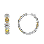Yellow Sapphire Silver Earrings (Dallas Prince Designs)