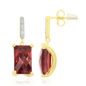 9K Mozambique Garnet Gold Earrings