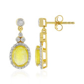 Madagascar Yellow Sapphire Silver Earrings