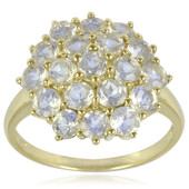 9K Rainbow Moonstone Gold Ring