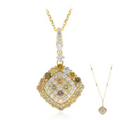 14K SI Fancy Diamond Gold Necklace (CIRARI)