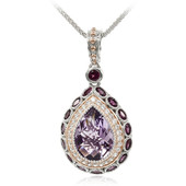 Rose de France Amethyst Silver Necklace (Dallas Prince Designs)