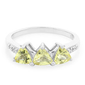 Yellow Beryl Silver Ring