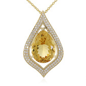 14K Yellow Beryl Gold Necklace (de Melo)