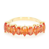 14K Padparadscha Sapphire Gold Ring (Lance Fischer)