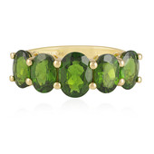 Russian Diopside Silver Ring