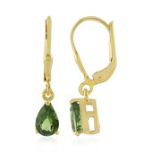 Madagascan Neon Tourmaline Silver Earrings