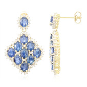 9K Laos Sapphire Gold Earrings