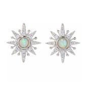 Welo Opal Silver Earrings (Dallas Prince Designs)