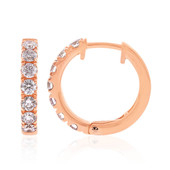 14K SI1 Pink Diamond Gold Earrings (CIRARI)